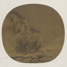 Travelers in Snowy Mountains  12th-13th century  Liang Kai , (Chinese, late 12th-early 13th century) - Southern Song dynasty  Ink on silk