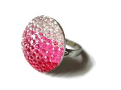 Pink Ombre Ring Circle Geometric Jewelry by WillysJewels on Etsy, $5.00