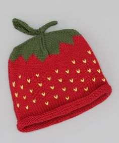 Red Strawberry Beanie | Daily deals for moms, babies and kids