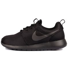 bb1272885 Nike WMNS Roshe One Black / Black / Anthracite - Nike The women's Nike  Roshe One in black has breathable mesh uppers, a solarsoft sockliner and a  bouncy ...