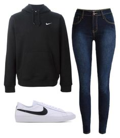 """NIKE Outfit #2"" by jillian263737 ❤ liked on Polyvore featuring NIKE, women's clothing, women, female, woman, misses and juniors"