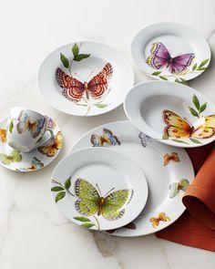 20-Piece 'Butterfly' Porcelain Dinnerware Service | Neiman Marcus