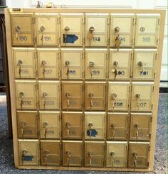 Vintage Salsbury Brass Mail Post Office Boxes Doors Have Keys, Rear Loading