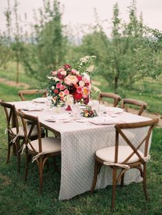 lovely tablescape Photography: Sara Hasstedt Photography Planning & Design: A Vintage Affair Events & Rentals. Flowers: Violet Floral Design Invitations: Lana's Shop Watters Corset & Skirt: Anna Be Venue: YA YA Farm & Orchard Hair: Hilary Hackney Hair Artistry Make up:  Makeup by Liana