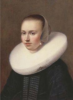 Johannes Cornelisz. Verspronck, Portret van een jonge vrouw