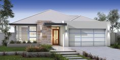 Don Russell Display Homes: The Astoria Contemporary Facade. Visit www.localbuilders.com.au/display_homes_perth.htm for all display homes in Perth