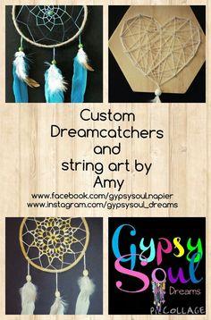 Gypsysoul Dreams  www.facebook.com/gypsysoul.napier www.instagram.com/gypsysoul_dreams Dream Collage, String Art, Dream Catcher, June, Dreams, Facebook, Business, Instagram, Dream Catchers