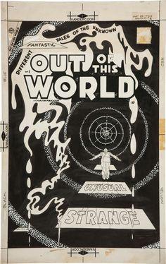 Original Comic Art:Covers, Steve Ditko Out of This World #6 Cover Original Art(Charlton, 1957).... Image #1