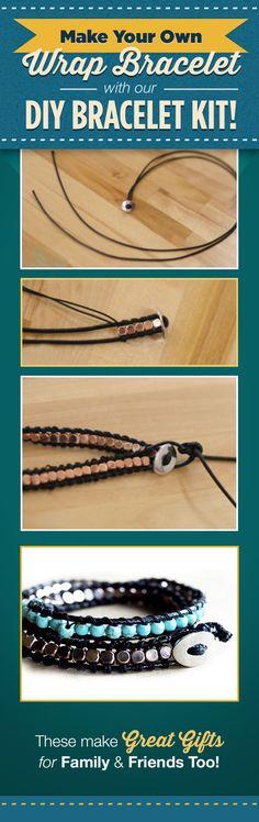 Make your own Wrap Bracelet with our DIY Bracelet Kit