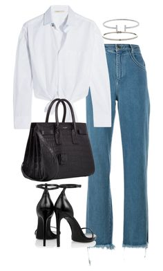 """""""Untitled #2347"""" by theeuropeancloset ❤ liked on Polyvore featuring Chloé, Maje, Yves Saint Laurent and Humble Chic"""