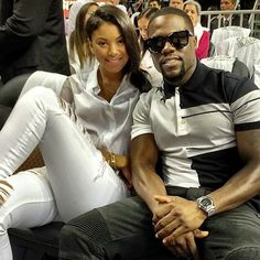 Kevin Hart Courtside wearing Givenchy Polo Shirt and Balmain Jeans | UpscaleHype