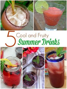 5 Cool and Fruity Summer Drink Recipes #ProjectEnvolve