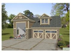 Shop Mil on large 2 bedroom home plans with 5 car garages