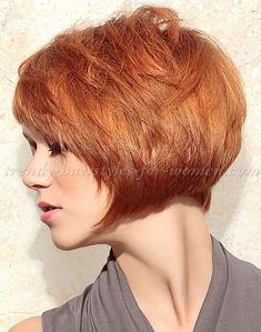 bob+hairstyles,+bob+haircut,+short+hairstyles+-+copper+red+bob+hairstyle