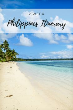 Coming up with a Philippines itinerary covering the best islands, beaches and places to visit within 2 weeks can be hard. This itinerary in paradise covers travel to amazing destinations – from Siargao to Cebu to Coron and El Nido in Palawan plus more! Voyage Philippines, Les Philippines, Philippines Travel, Siargao Philippines, Palawan, Cebu, Cool Places To Visit, Places To Travel, Vacation Places