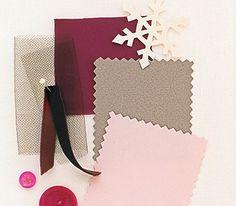 Brown, magenta, and pink