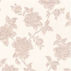 Beige Floral Tradition traditional floral high end linen textile home wallpaper R3239