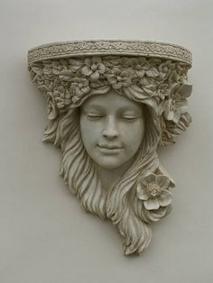 Have a look at this Art Nouveau Corbel page from the Corbels & Garden Wall Plant. - CERAMICS - Have a look at this Art Nouveau Corbel page from the Corbels & Garden Wall Planters department at M - Garden Wall Planter, Garden Art, Wall Planters, Garden Walls, Garden Pond, Garden Ideas, Design Art Nouveau, Jugendstil Design, Wall Ornaments
