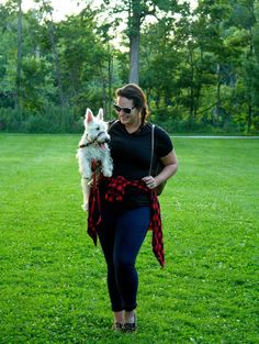 A casual look  with buffalo plaid for the bark park on In Kinsey's Closet