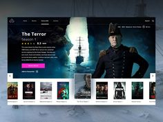 "Daily UI ""The Terror TV Series"" by ★ ɢıuʟiø cuƨcitø ★ on Dribbble - Mery J Kendy Modern Web Design, Web Ui Design, Design Layouts, Media Design, Design Design, Mobile Ui Patterns, Ui Web, Responsive Web, Movie Website"