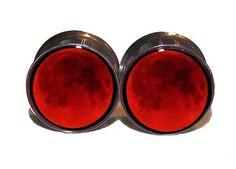 9/16 Blood Moon Plugs ://www.etsy.com/listing/130395932/blood-moon-plugs-1-pair-sizes-2g-0g-00g