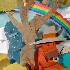 monster & moose paper cut