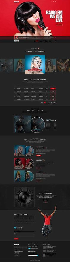 On this Radio templates page we offer to all our customers best Radio, online radio station and internet radio station website templates and themes Site Design, Web Design, Sound Studio, Bootstrap Template, Internet Radio, Website Themes, Website Template, Templates, Concept