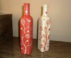 Resultado de imagen para garrafas pintadas artesanato