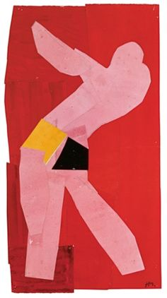 Small Dancer on a Red Background, 1937-8 Henri Matisse, cutouts