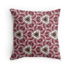 """""""Pattern """"Fractal Imagination"""""""" Throw Pillows by floraaplus 