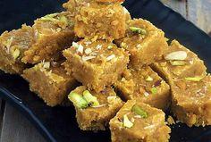 mohanthal Indian Dessert Recipes, Paleo Dessert, Sweets Recipes, Indian Sweets, Snack Recipes, Cooking Recipes, Indian Recipes, Modak Recipe, Burfi Recipe