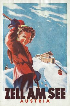 Vintage Ski Posters, Art Deco Posters, Retro Posters, Movie Posters, Snow Place, Travel Ads, Alpine Skiing, Retro Illustration, Travelling