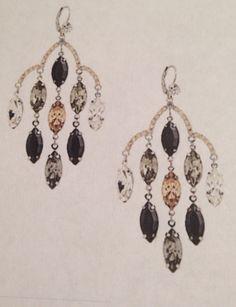 Cezanne - Animal Multi Cluster Candelier Earrings