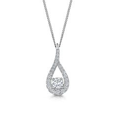 For the Bride - Laings 18ct White Gold 0.35ct Diamond Teardrop Pendant