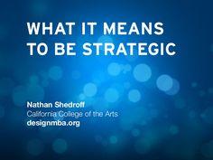 Nathan Shedroff's keynote presentation at UX STRAT 2013
