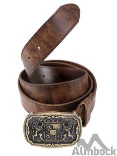 http://www.trachten24.eu/Trachtenguertel-Bayern-Wappen-Loewen-antik-braun - Trachtengürtel Bayern Wappen Löwen antik (braun) - Bavarian belt with coat of arms antique (brown)
