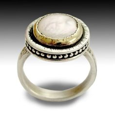 Sterling silver ring silver gold ring engagement by artisanlook, $194.00