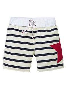 Stars and stripes swim trunks