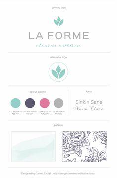 Logo design for La Forme, Aesthetics Clinic | Designed by Clementine Creative | #flower_logo #green_logo