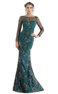 - Mother of the Bride Dresses - Feriani Couture 18718 Spring 2018 Evening Collection dress. Long Sleeve Evening Gowns, Long Sleeve Gown, Girls Formal Dresses, Formal Gowns, Vestidos Marisa, Mother Of Groom Dresses, Evening Dresses Online, Floral Lace Dress, Couture Dresses
