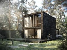 Little House Plans, Casa Loft, Model House Plan, Casas Containers, House In Nature, Small Modern Home, Weekend House, Container House Plans, Floating House