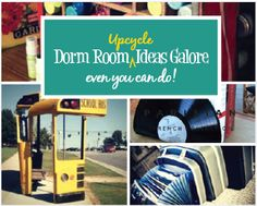 Creative Upcycling for Dorm Room Decor Upcycle Home, Green Initiatives, Man Cave Diy, Educational Activities, Dorm Room, Playroom, Back To School, Room Decor, How To Plan