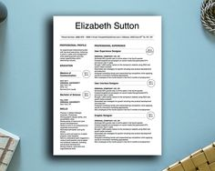 Elizabeth Sutton Resume Template for MS Word