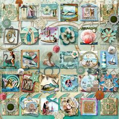 Inchies found in the Members Galleries on deviantscrap.com - these are called, A-Day-at-the-Beach