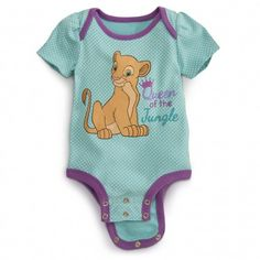 Sophia & Ava Shields Nala Disney Cuddly Bodysuit for Baby - Lion King Disney Baby Clothes, Baby Kids Clothes, Disney Babies, Cute Baby Girl, Baby Boy, Lion King Baby Shower, Outfits Niños, Baby Time, Toddler Outfits