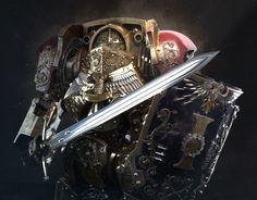 Warhammer 40k Art, Warhammer Fantasy, Legio Custodes, Space Marine, Fantasy Artwork, Pop Culture, Concept Art, Darth Vader, Sci Fi