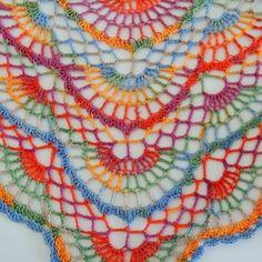 Duhový letní šátek – Háčkování hraček & návody Crochet Poncho, Crochet Scarves, Crochet Yarn, Easy Crochet, Crochet Clothes, Crochet Shawl Diagram, Freeform Crochet, Crochet Shawls And Wraps, Triangle Scarf