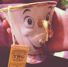 beauty baby cute adorable disney animated beauty and the beast animation fantasy tea cup beast musical Belle son chip teacup Happy Never Aft...
