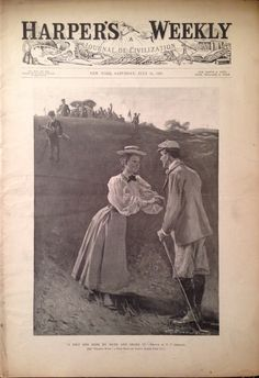 Harper's Weekly Magazine July 1897 Golf Cover Golf Attire, Golf Outfit, Hickory Golf, Indoor Mini Golf, Adidas Golf Shoes, Golf Images, Golf Magazine, Golf Art, Ladies Golf
