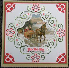 Voorbeeldkaart - Kerst - Categorie: Borduren - Hobbyjournaal uw hobby website